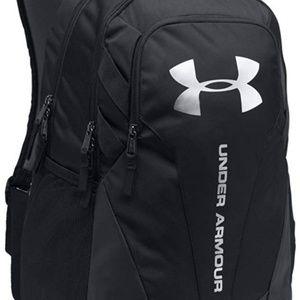 Under Armour Hustle 3.0 Backpack- Black, Silver